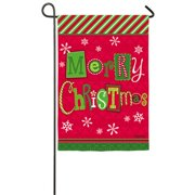 Evergreen Enterprises, Inc Merry Christmas Ornaments 2-Sided Garden Flag