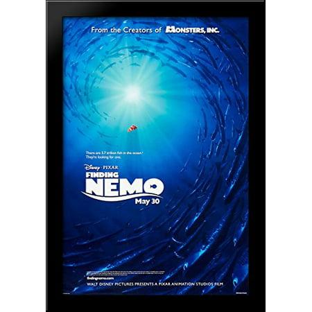 Finding Nemo 28x40 Large Black Wood Framed Print Movie Poster Art
