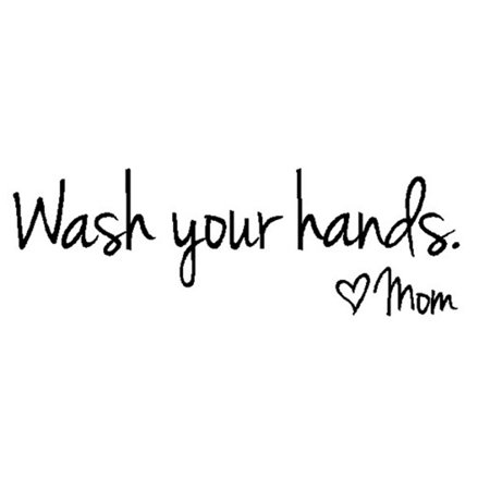 Fancyleo Wash Your Hands Love Mom Signs DIY Bathroom Wall Decor Art Decal