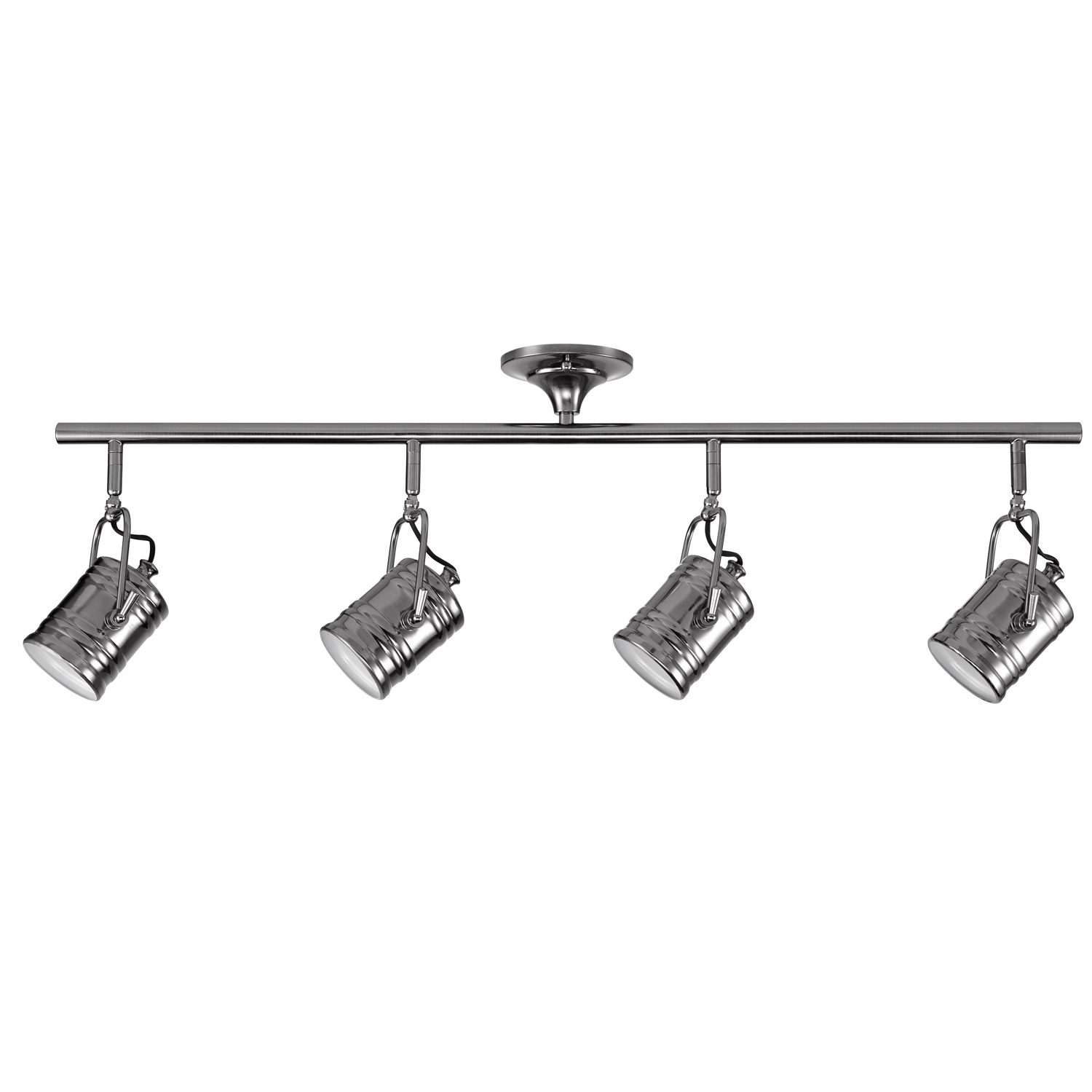 Globe Electric Wyatt 4-Light Dark Shiny Pewter Track Lighting, LED Bulbs Included, 59198 by Globe Electric