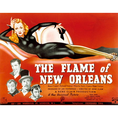 The Flame of New Orleans POSTER Movie Mini Promo