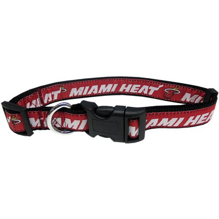 Pets First Nba Miami Heat Pet Collar  3 Sizes Available  Sports Fan Dog Collar