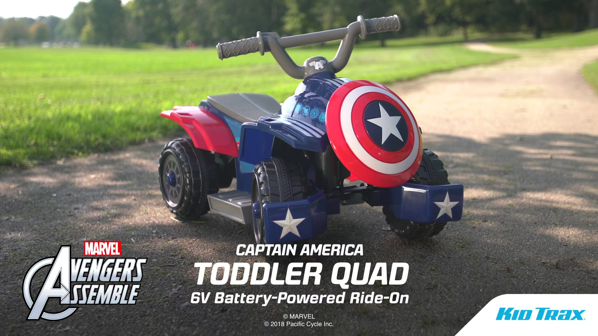 a1b1656fa 6v Marvel Captain America Quad - Walmart.com