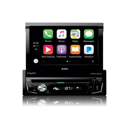 Jensen VX4014 1 Din Flip Up 7 Inch Touch Screen  DVD receiver with (Best Flip Screen Car Stereo)
