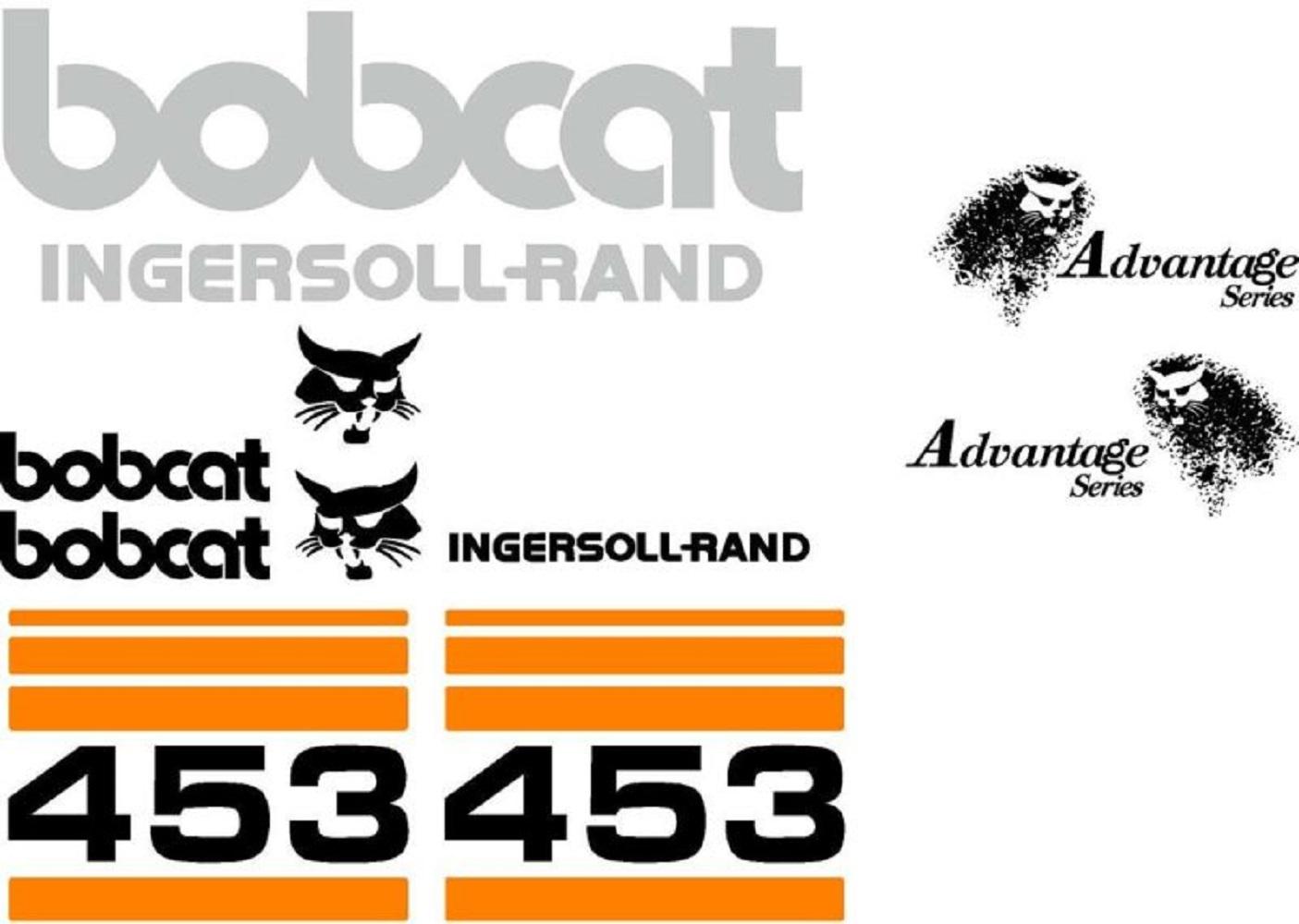 Bobcat 453 Excavator Whole Machine Decal Set Ingersoll Rand & Advantage Series by Aftermarket Bobcat