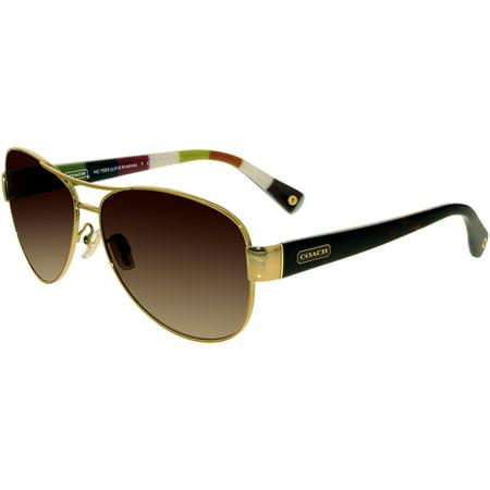2976a6492b Coach - Coach Women s Gradient HC7003-901313-59 Tortoiseshell Aviator  Sunglasses - Walmart.com