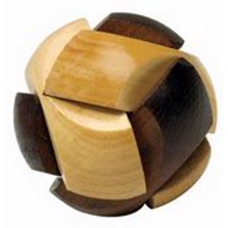 Soccer Ball 3D Wooden Puzzle Brain Teaser (Chinese Puzzle Ball)