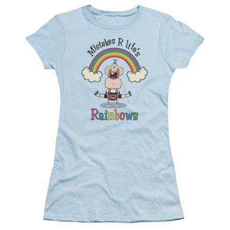 Uncle Grandpa - Lifes Rainbows - Juniors Teen Girls Cap Sleeve Shirt - XX-Large