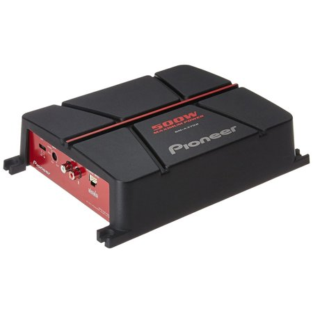 Pioneer GM-A3702 500W Peak (190W RMS) 2-Channel A Series Bridgeable Class AB 2-Ohm Stable Car Amplifier ()