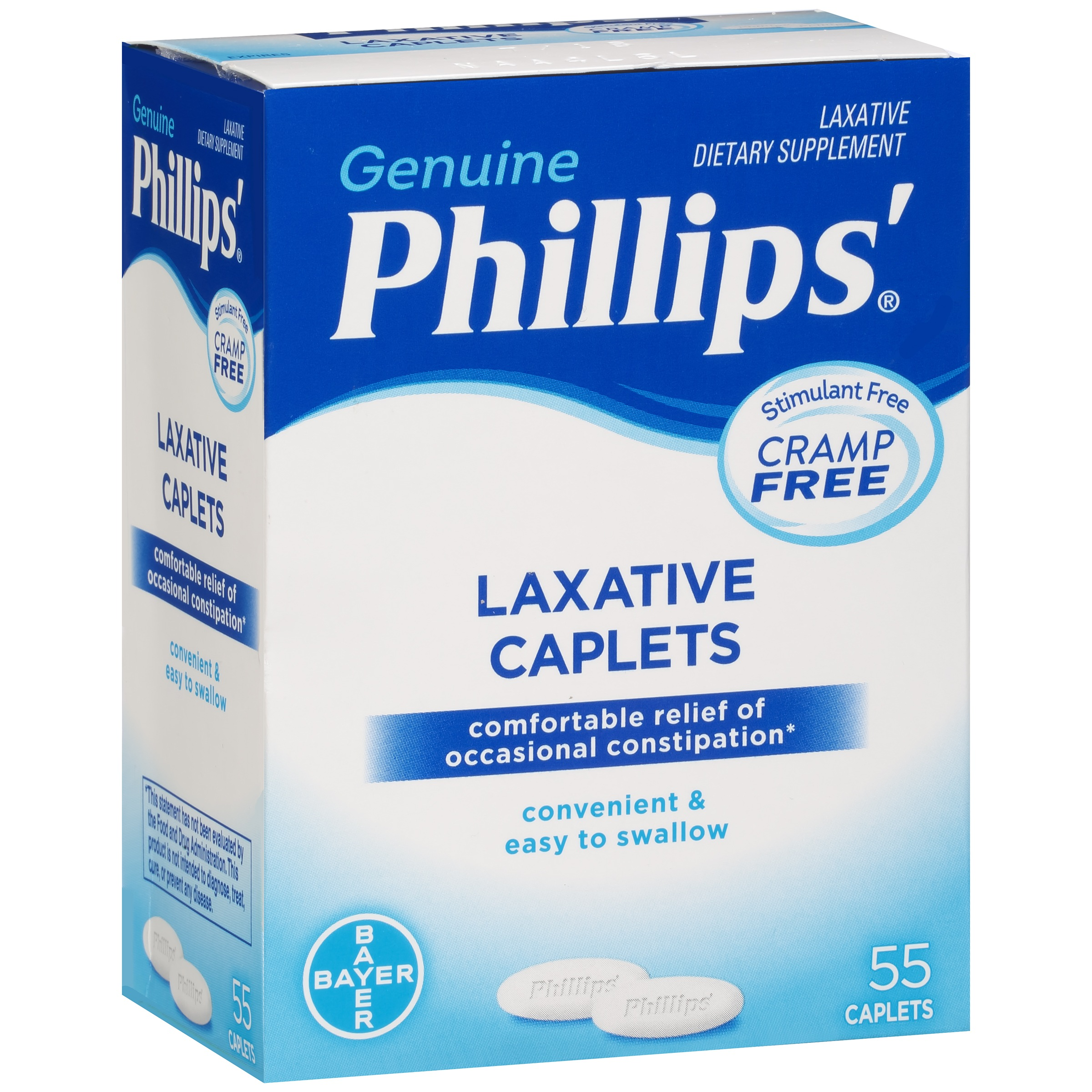 Phillips 174 Laxative Dietary Supplement Caplets 55 Ct Box