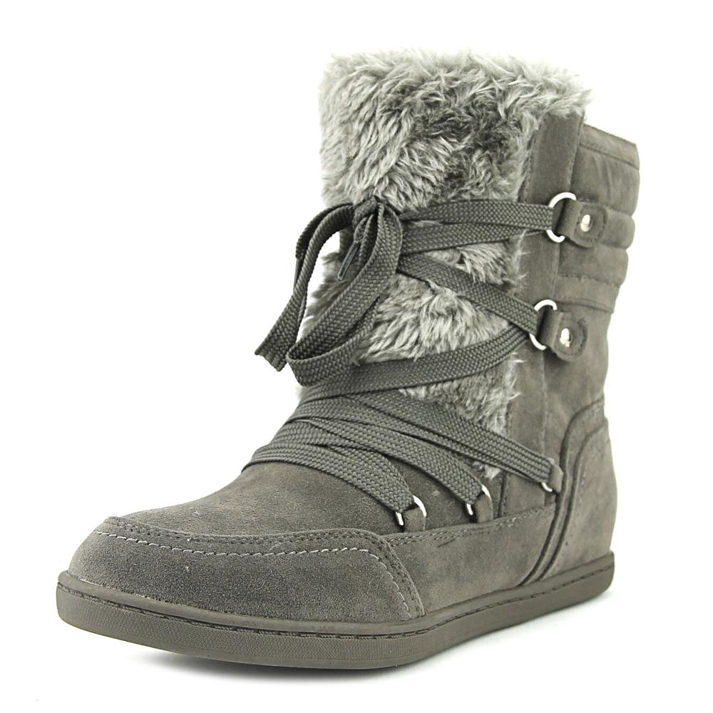 G By Guess Ryla Women Round Toe Canvas Gray Winter Boot by Winter Boots