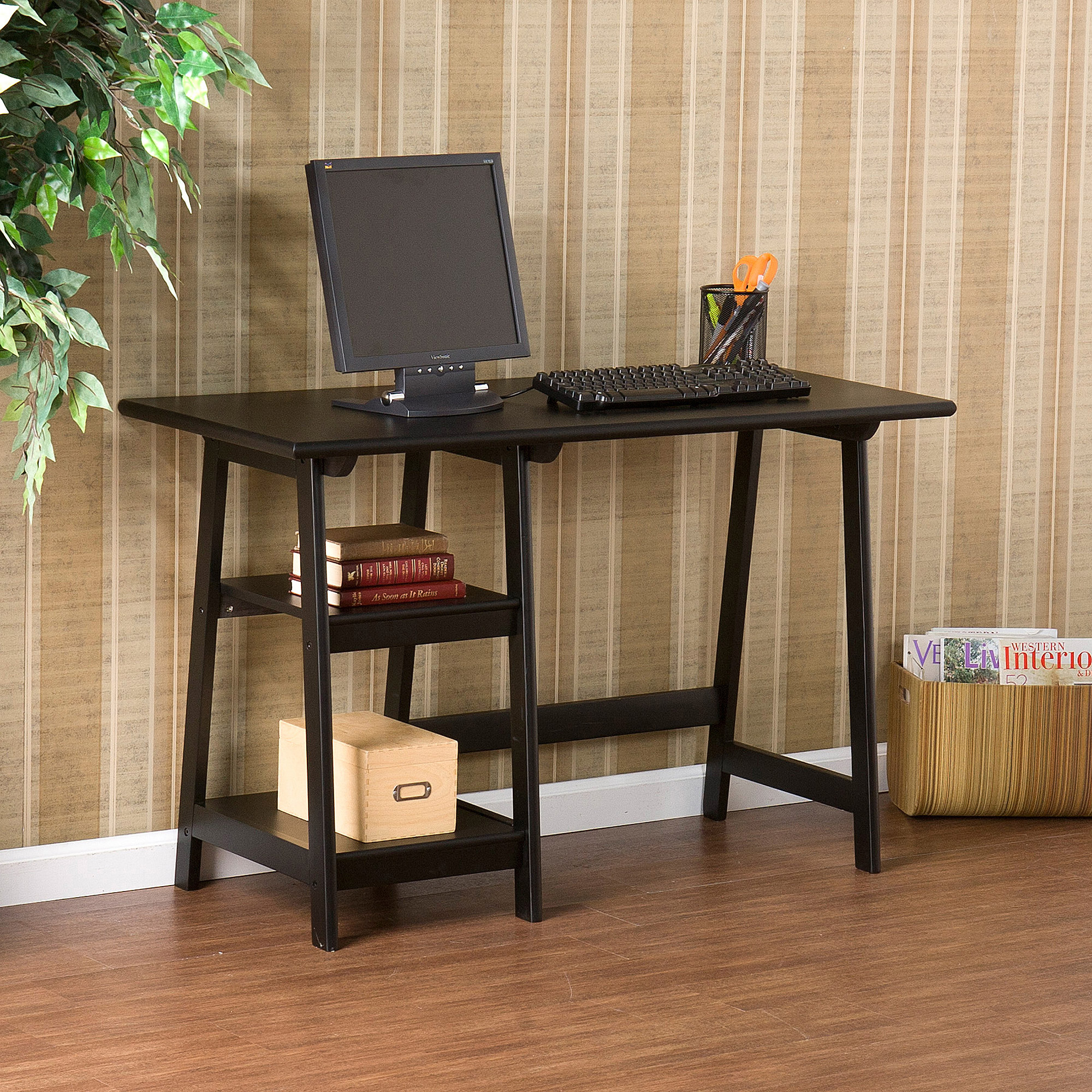 Huntsville 2-Shelf Desk, Multiple Colors