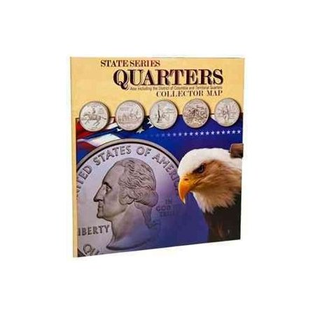State Series Quarters Collector Map Also Including The District - Us map for collecting quarters