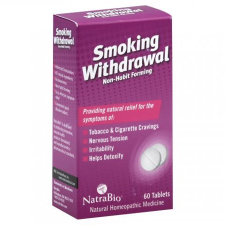 NatraBio NatraBio Smoking Withdrawl Non-Habit Forming - 60 Tablets