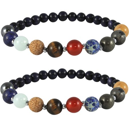 (Set/2) Solar System Bracelet w/ Genuine Gemstones Represent Planets & Stars (Betsey Johnson Watch Bracelet)