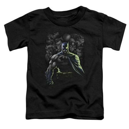 Batman/Villains Unleashed   S/S Toddler Tee   Black      Bm1890 (Girl Villains)