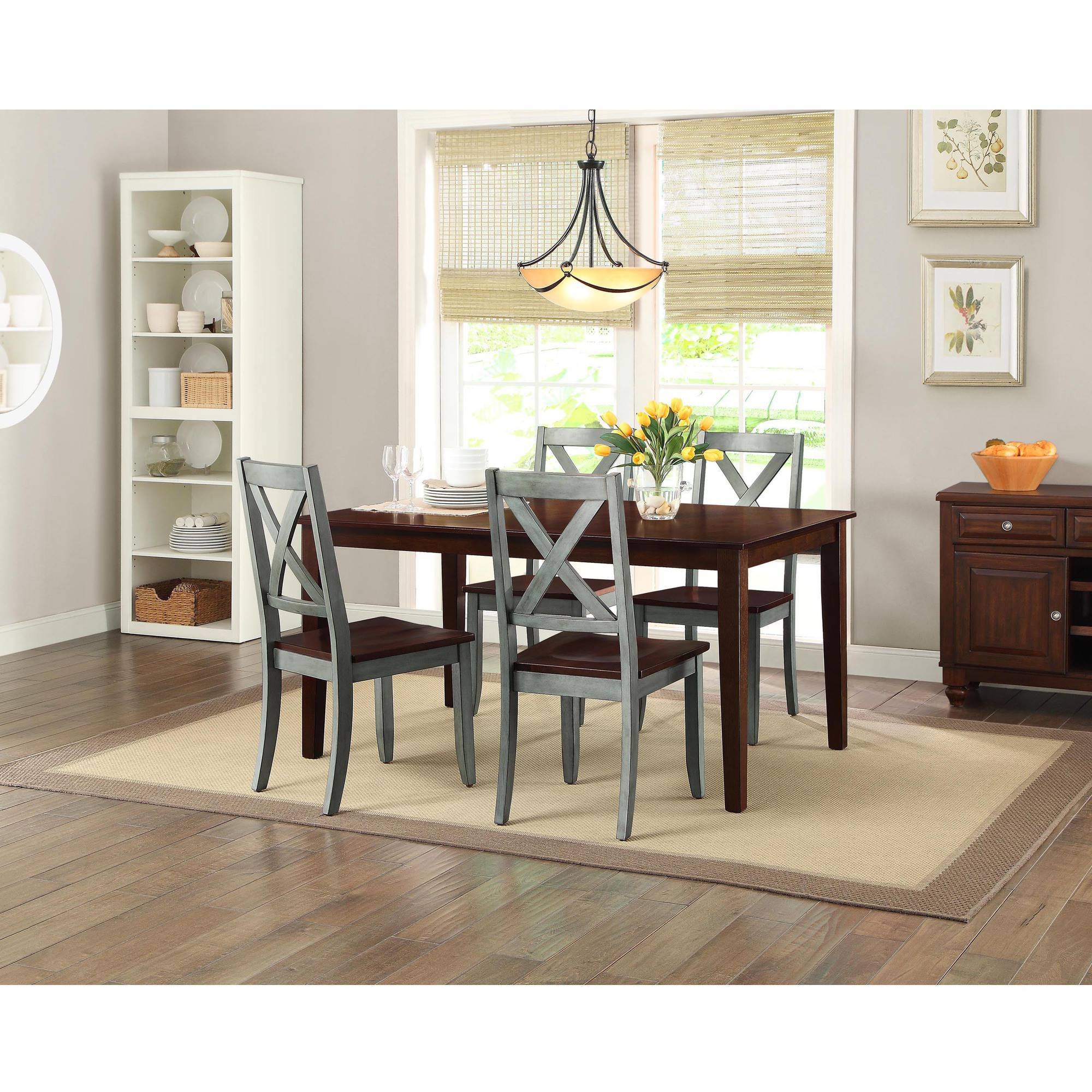 Better Homes and Gardens Maddox Crossing Dining Chair, Blue, Set ...