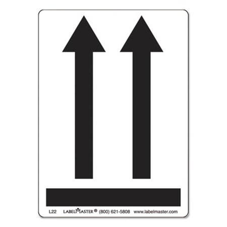 Lmt L22 Shipping   Handling Self Adhesive Label  44  3 25 X 4 5 In   44  Black Arrows