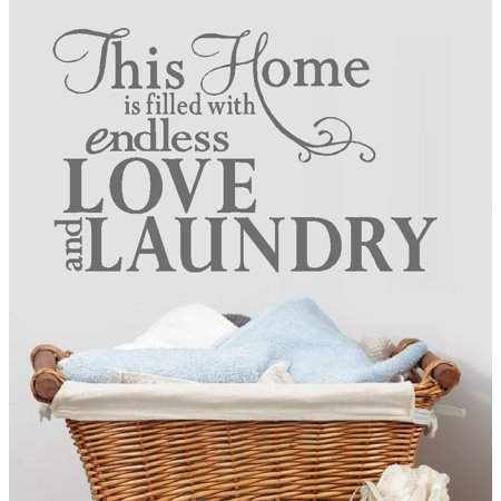 This home is filled with endless love and Laundry: Wall Decal 13