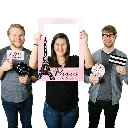 Paris, Ooh La La - Paris Themed Party Selfie Photo Booth Picture Frame & Props - Printed on Sturdy Material](Paris Themed Photo Booth)