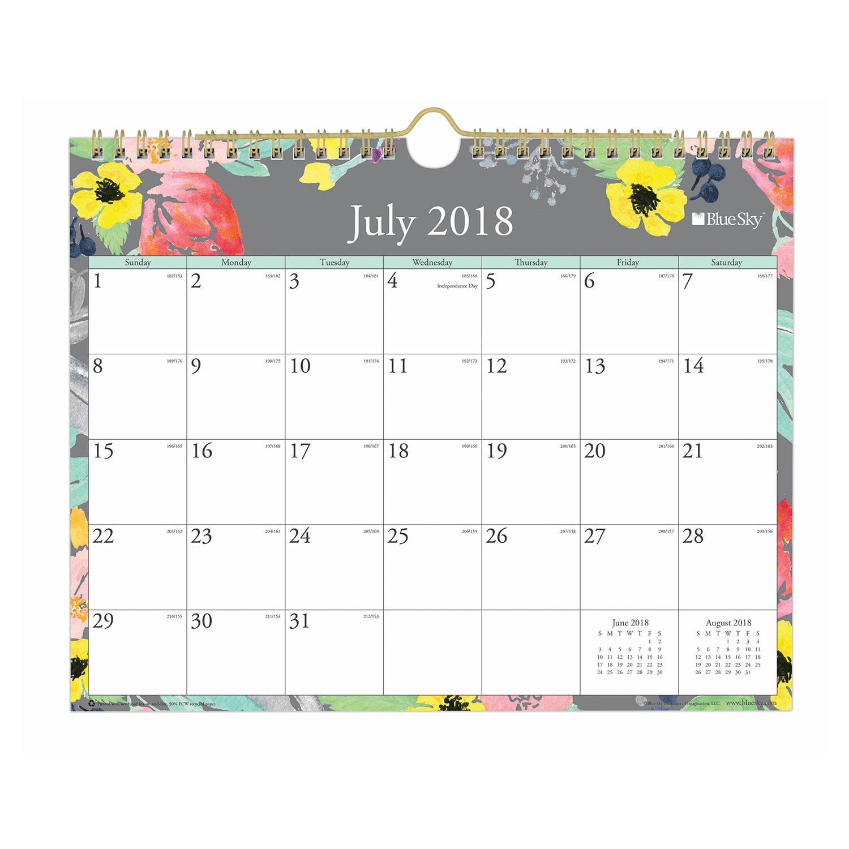 """Blue Sky 11"""" x 8.75"""" Wall Calendar, July 2018-June 2019 by Blue Sky"""