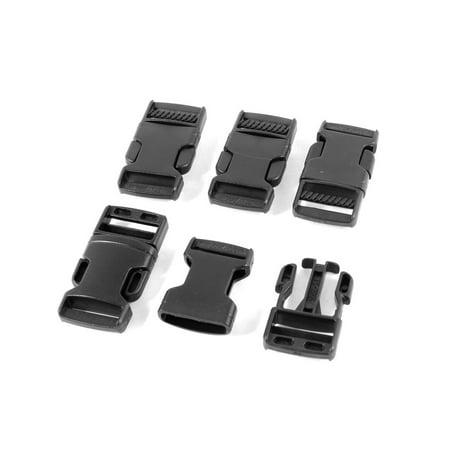 Unique Bargains 5 x Plastic I Shape Belt Connecting Parts Side Quick Release (Five Buckle)