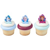 12 Disney Frozen 2 Cupcake Cake Rings Birthday Party Favors Cake Toppers