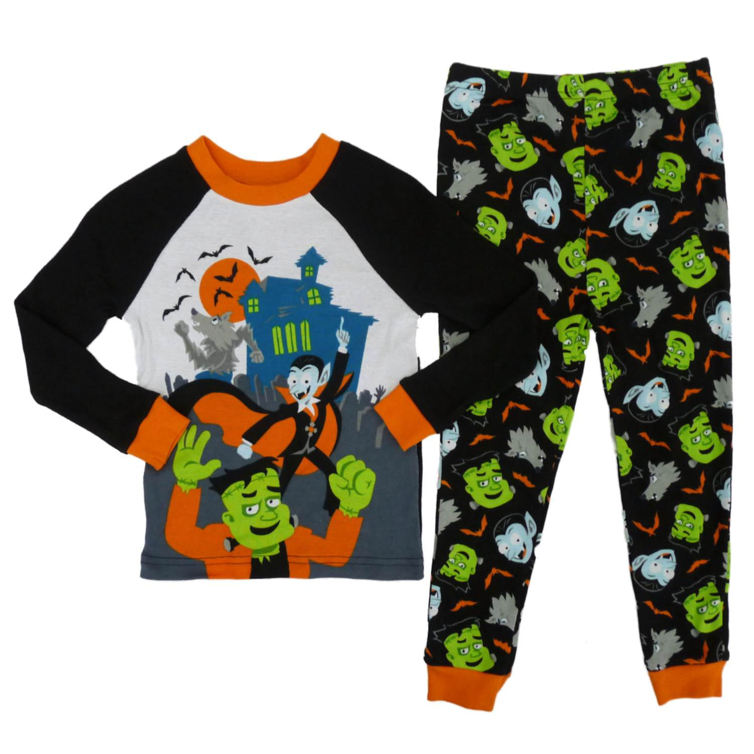 happy halloween infant toddler boys werewolf dracula frankenstein pajamas walmartcom