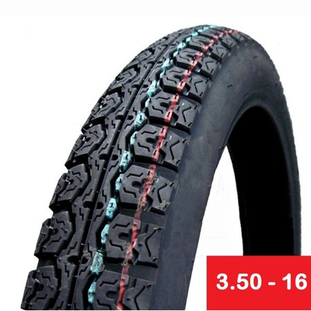 Tire 3.50 - 16 Motorcycle Scooter Moped Street Front/Rear Performance