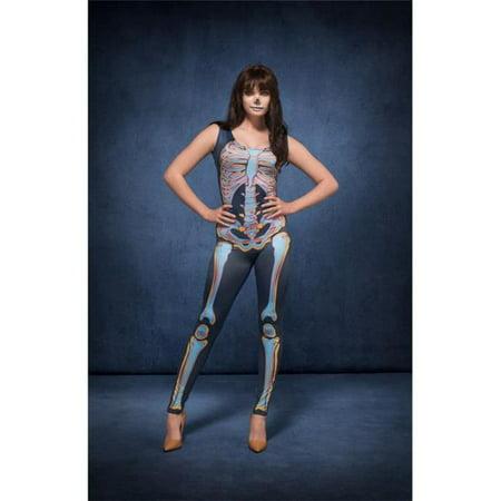 Smiffys 48153M Blue Fever Sexy Skeleton Costume with Bodysuit - (Smiffy's Skeleton Costume)