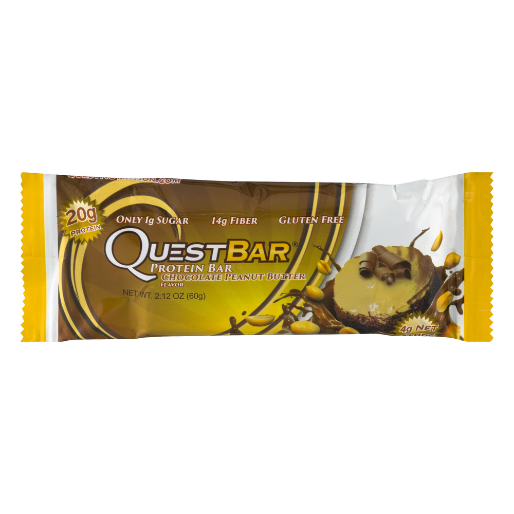 Quest Protein Bar, Chocolate Peanut Butter, 20g Protein, 1 Ct