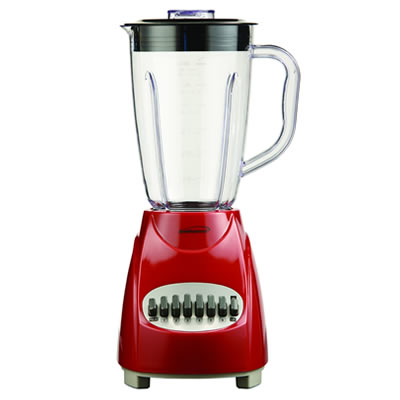 Brentwood 12-Speed Blender with Plastic Jar, Red