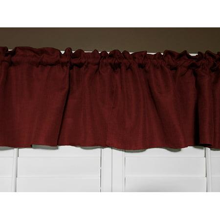 faux burlap window valance 58 wide slate -