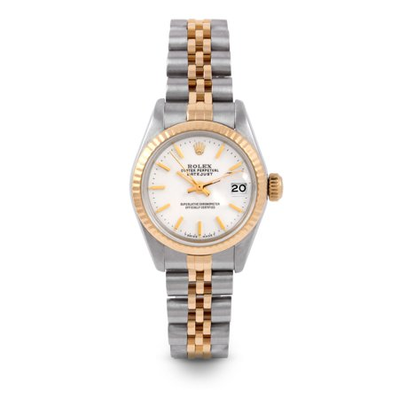 Pre Owned Rolex Datejust 6917 w/ White Stick Dial 26mm Ladies Watch (Certified Authentic & Warranty Included)