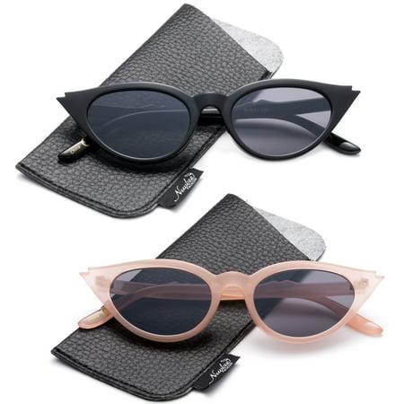 Designer Inspired Women Cat eye Sunglasses Cateye Retro Fashion Sunglasses for Women Vintage Sunglasses (Small Ladies Sunglasses)