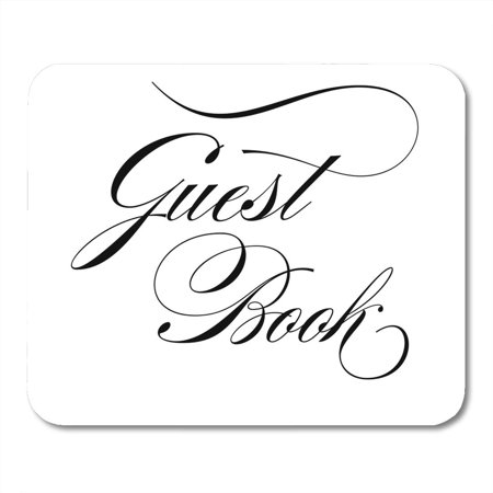 KDAGR Ceremony Black Artistic Elegant Script Wedding Sign Guest Book Calligraphy Cursive Mousepad Mouse Pad Mouse Mat 9x10