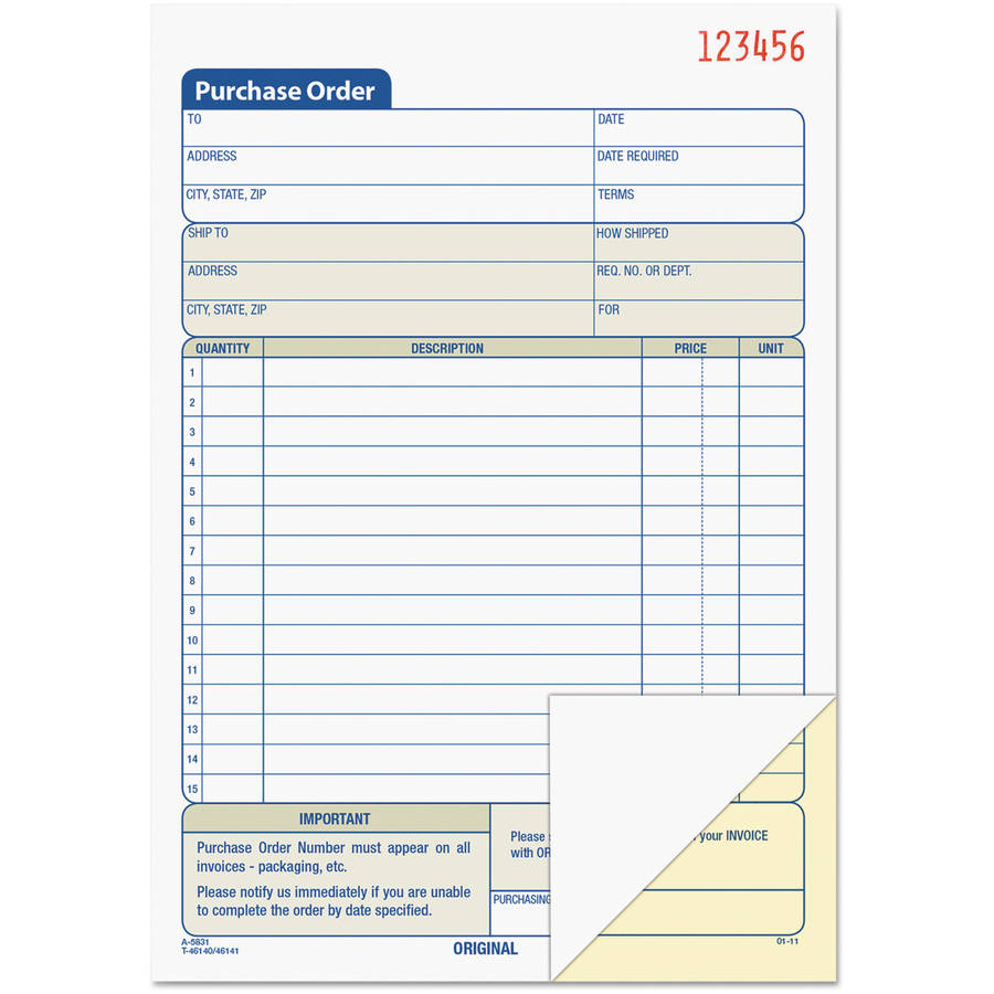 TOPS Purchase Order Book, Carbonless, 50 Sets/Book