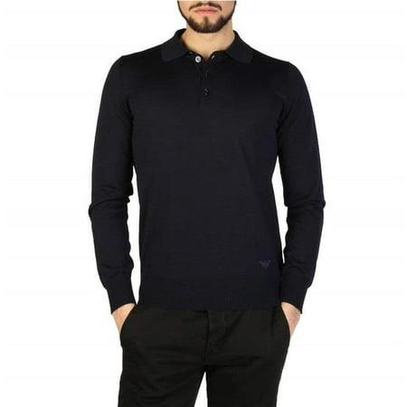 Emporio Armani 01M65M-0167M-922-Blue-58 Mens Polo Shirt, Blue - Size 58 - 5 8 Size 16