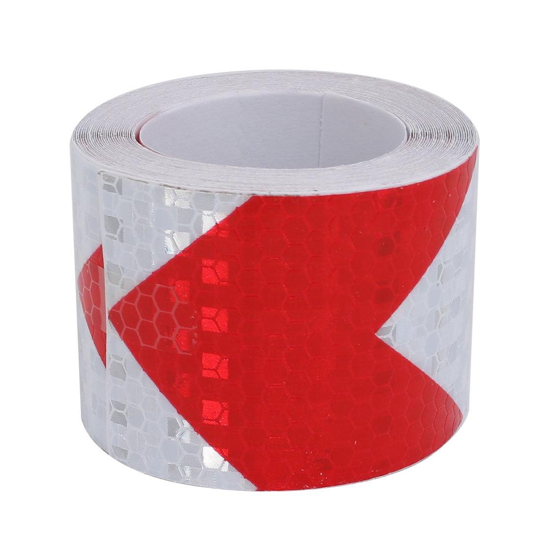 5cmx5m Honeycomb Sous-adhésif réfléchissant Avertissement Rouge Tilt Blanc - image 1 de 3