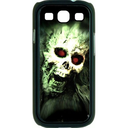 Skull Hard Plastic Case (Screaming Skull  Hard Black Plastic Case Compatible with the Samsung Galaxy s3 i9300 Phone)