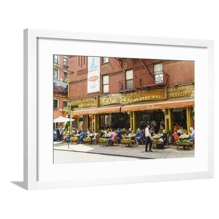 Italian Restaurant In Little Italy Manhattan New York City United States Of America North Ameri Framed Print Wall Art By Fraser Hall