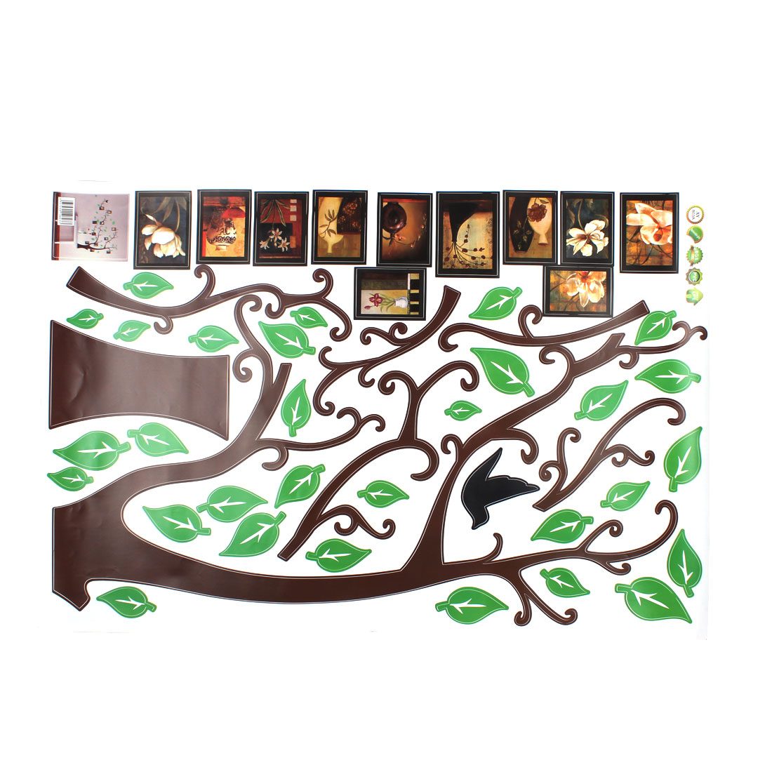 Photo Frame Tree Pattern Wall Sticker Paper Mural 90 x 60cm - image 1 de 3