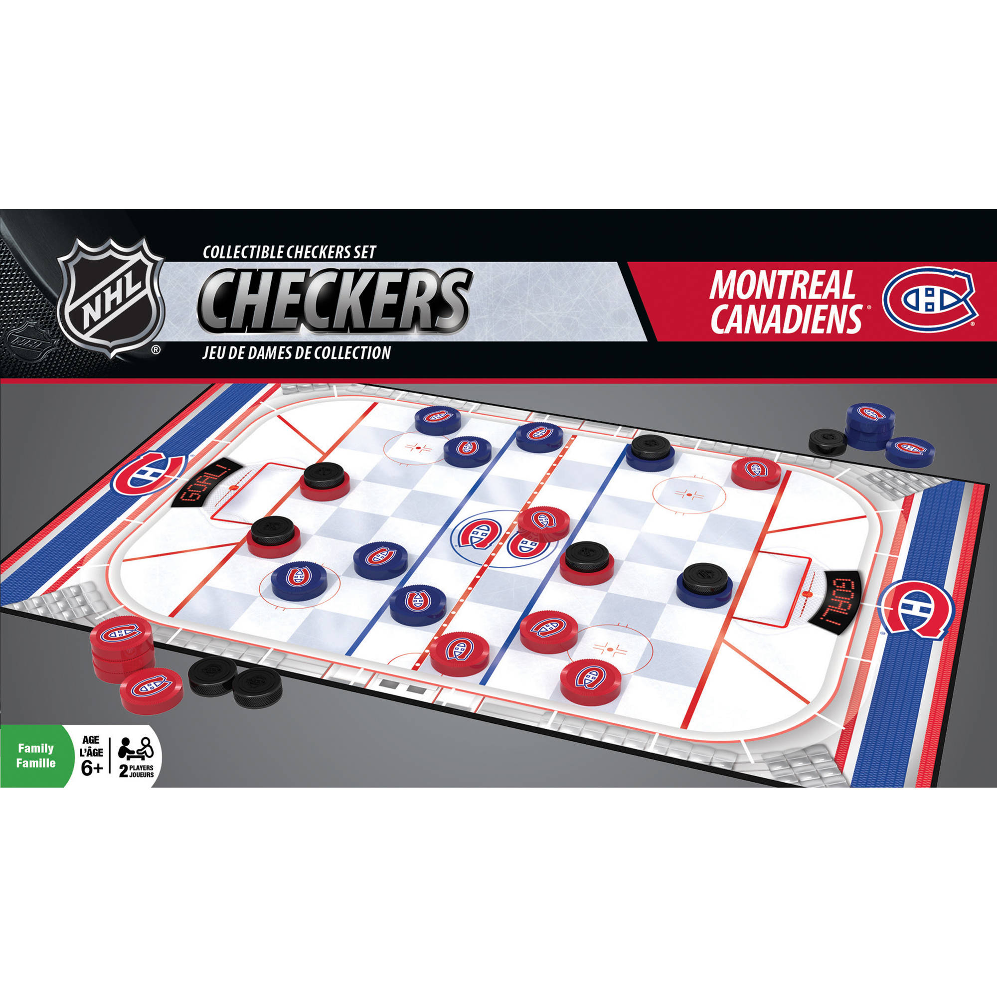 MasterPieces NHL Montreal Canadiens Checkers Game