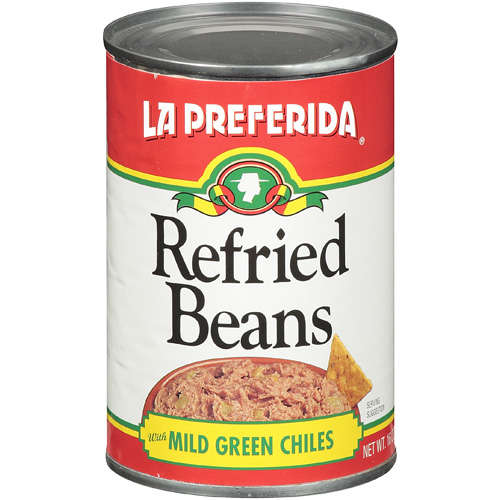 WATER, PINTO BEANS, GREEN CHILES, LARD, SALT