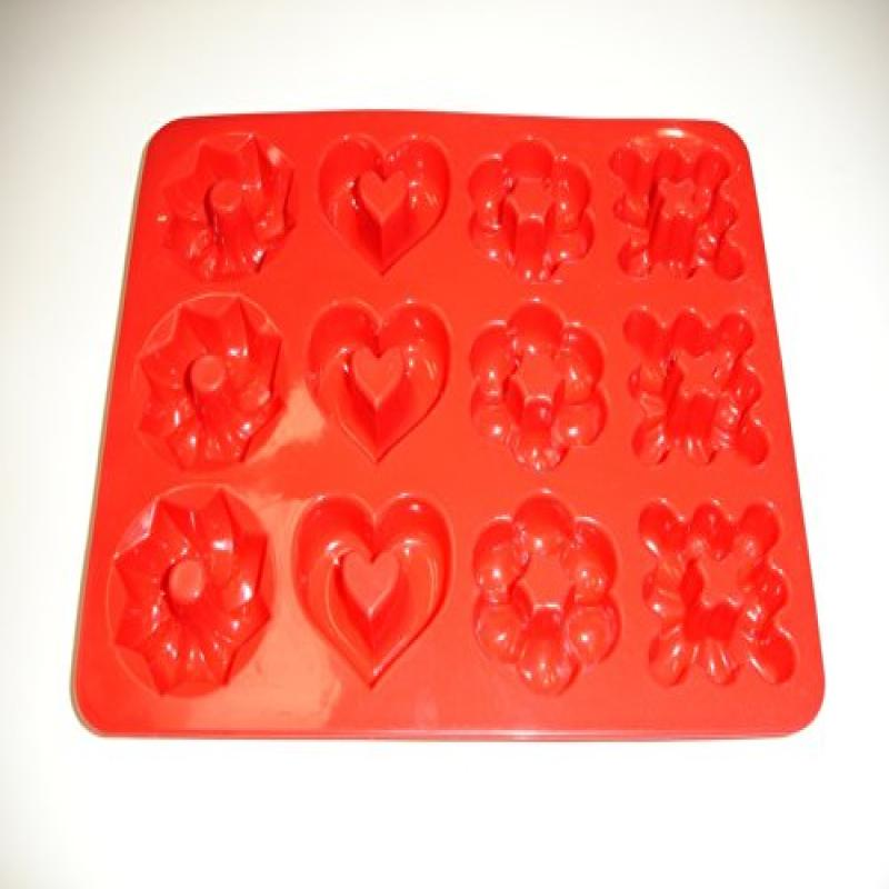 12 Cup Multi Design Premium Silicone Mini Muffin Pan by