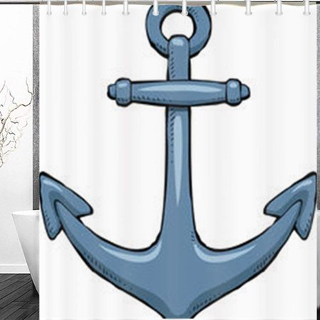 Miscellaneous Object Holder (BPBOP Anchor On White Miscellaneous Objects Painting Shower Curtain 60x72 Inches )