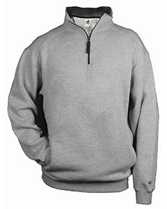 XL Black//Graphite Badger Big Boys 1//4 Zipper Athletic Open Bottom Fleece