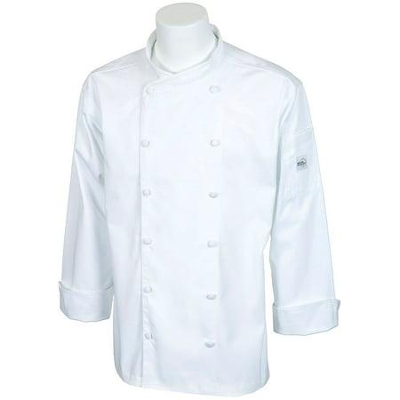 Mercer Renaissance Cutlery Men's Chef Jacket (Scoop Neck) - White, (Men's Renaissance Vest)