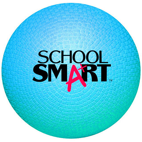 "School Smart Natural Rubber Playground Ball, 8.5"", Multiple Colors"