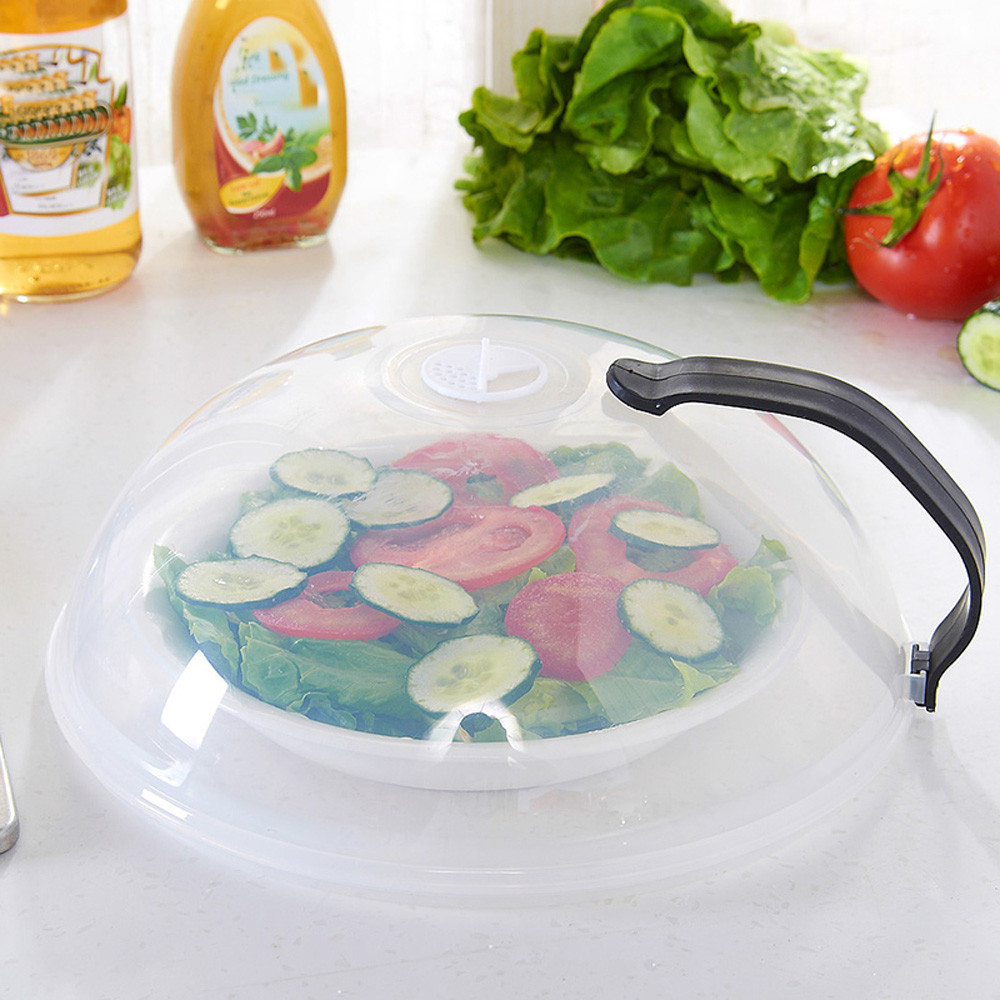 New Food Multifunction Splatter Guard Microwave Hover Anti-Sputtering Cover